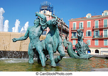 Nice - Statues in the city of Nice France