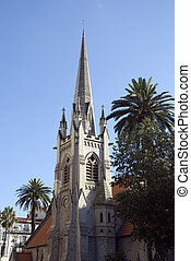 Historical Church tower in the city of nice