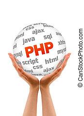 Hypertext Preprocessor - Hands holding a Hypertext...