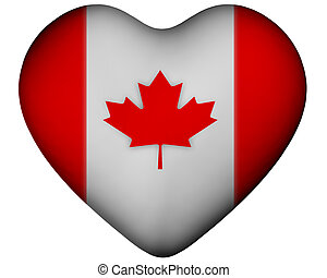Heart with flag of Canada