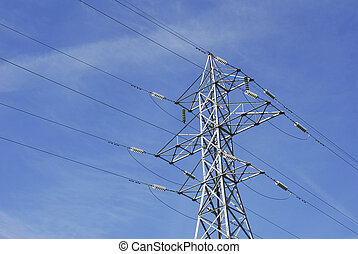 High Tension Wires - Electrical wires on a high tension...