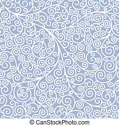 Seamless background with curls in two colors