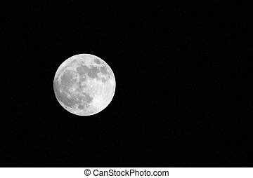 Full Moon on stars sky background