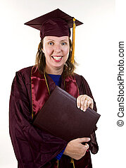 Nontraditional Student Graduating - Older nontraditional...