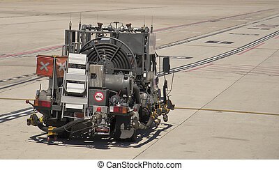 Airplanes Jet A-1 Fuel Truck at the - A JET A-1 fuel truck...
