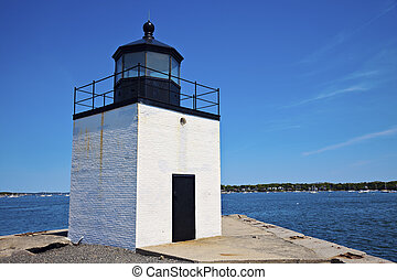 Derby Wharf Lighthouse in Salem, Massachusetts
