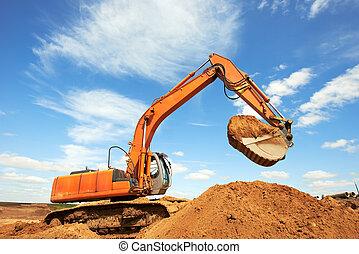 track-type loader excavator at work - track-type loader...