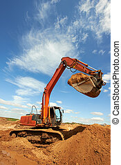 track-type loader excavator at work