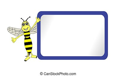 Cute Bee with Blue Bulletin Board