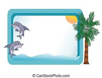 Dolphins Beach Scene Board