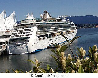 Cruise Ship at Waterfront Vancouver