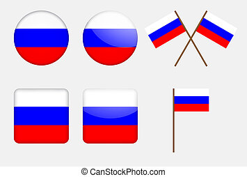 badges with Russian flag