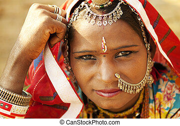 Beautiful Indian woman - A portrait of beautiful Indian...