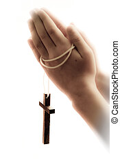 hands and cross