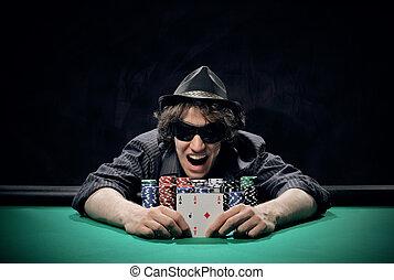 Texas Hold'em poker: the winner