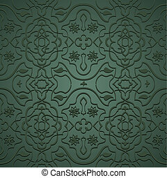 Seamless arabic pattern - Interlacing flowery patterns in...