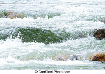 whitewater scene and extreme sports in nature