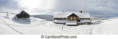 Shelter near the Snieznik mountain, Poland