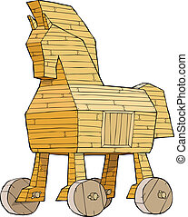 Trojan horse on a white background vector illustration