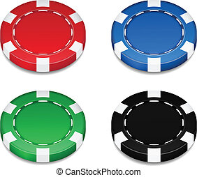 chips casino Isolated on white background vector...