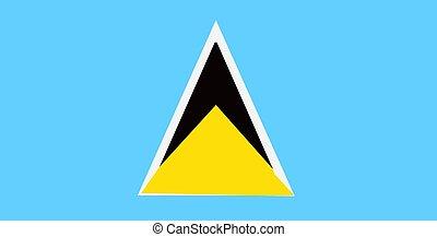 Saint Lucia flag - flag of Saint Lucia - isolated...