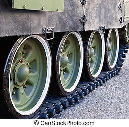 Caterpillars of the soviet tank