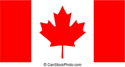 Canada flag icon - isolated vector illustration