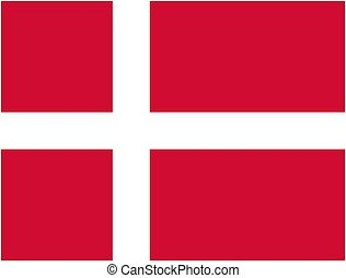 Denmark flag and language icon - isolated vector...