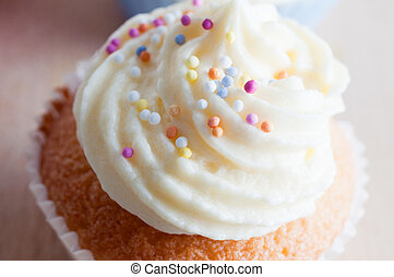 Decorated Cupcake with Sprinkles