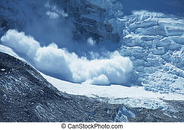 Avalanche - avalanche in Himalaya