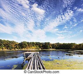 Autumn lake - Autumn scene