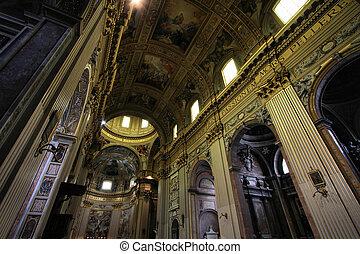 Rome - Sant Andrea Della Valle - Rome, Italy - famous...