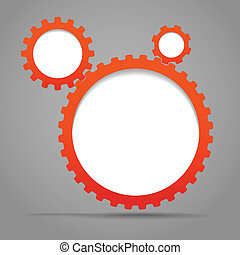 Abstract speecj clouds of gear wheels Template for a text