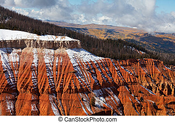 Cedar Breaks in autumn season