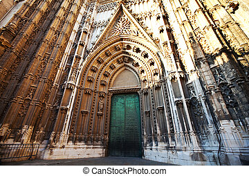 Cathedral in Sevilla - Cathedral in Seville, Andalusia,...