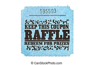 Classic raffle ticket - A classic raffle drawing ticket stub...