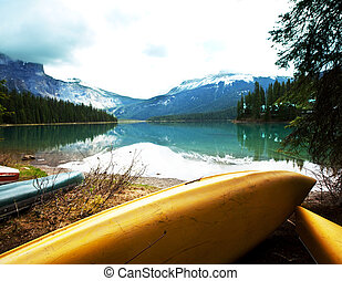 Canoe - canoe on lake
