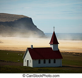 Church in Iceland - Church on Iceland coast