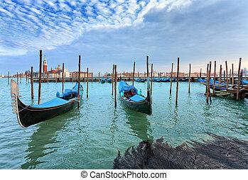 Venice - Gondolas San Giorgio Maggiore Venice Venice is a...
