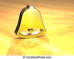 3D Bell Gold Sign
