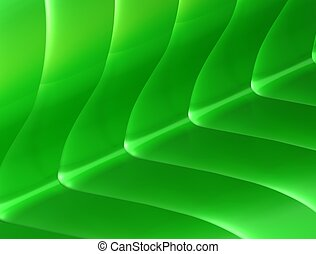 Glossy Green Nature Background