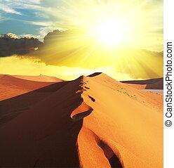 Desert on sunset - Desert