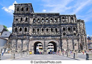 Porta Nigra in Trier, Germay - Porta Nigra monument (antique...