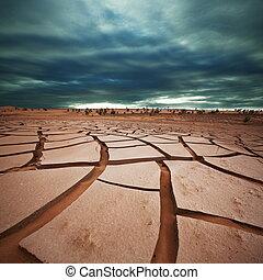 Drought land in Gobi - Drought land
