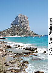 Penon de Ifach - The famous Penon de Ifach rock on the costa...