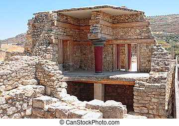 Knossos reconstruction - The partial reconstruction of part...