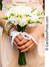 Wedding freesias - Wedding bouquet from white freesias...