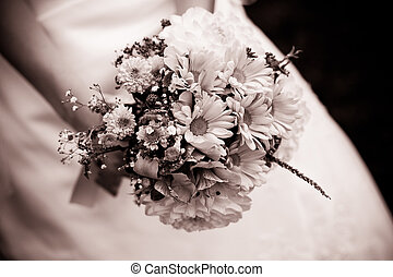 Wedding bouquet with dill