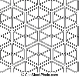 Abstract vector seamless texture - parallelepipeds