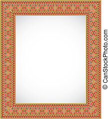 Vertical frame with an ornament - Ukrainian style - The...